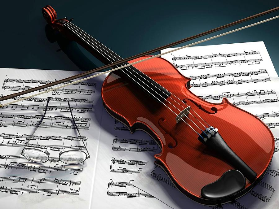 Violin Digital Art - Violin by Dorothy Binder