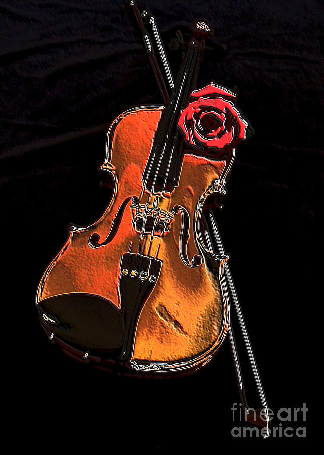 Photo Photograph - Violin Extreme by Marsha Heiken