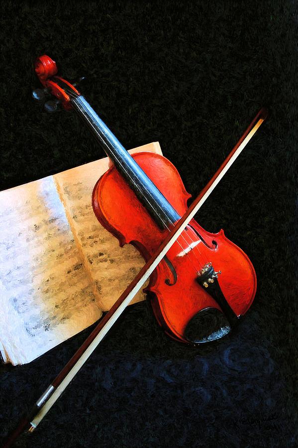 Violin Photograph - Violin Impression by Kristin Elmquist