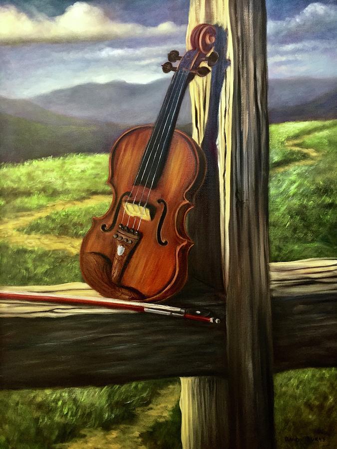 Violin Painting - Violin by Randy Burns