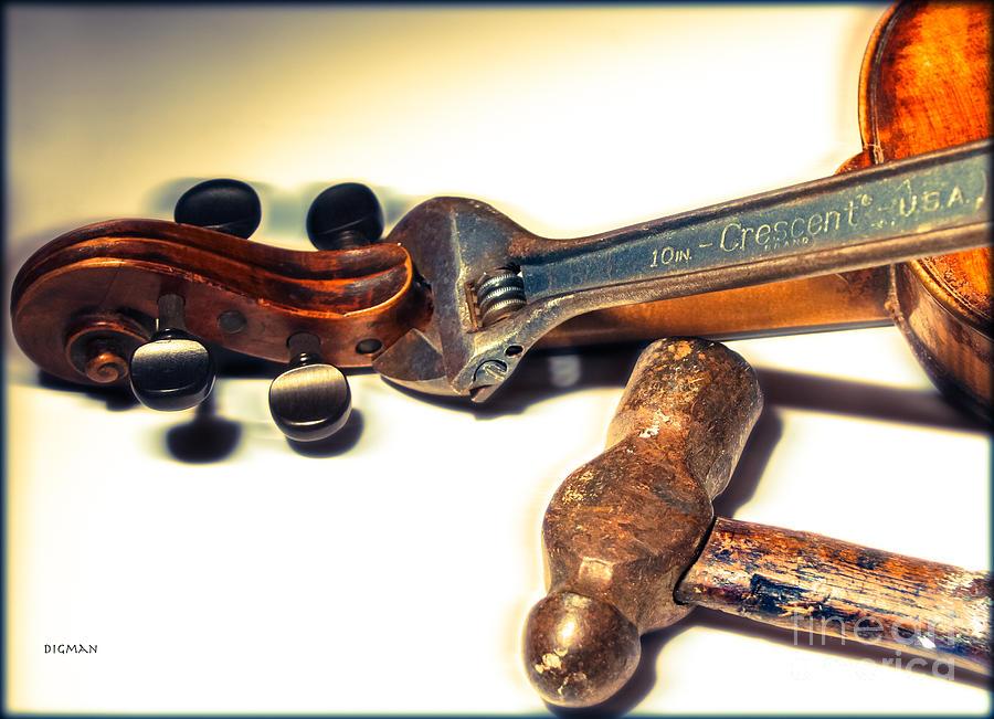Violin Photograph - Violin Repair  by Steven Digman