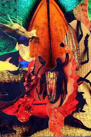 Colorful Print - Violin Spider by Jerry Neale