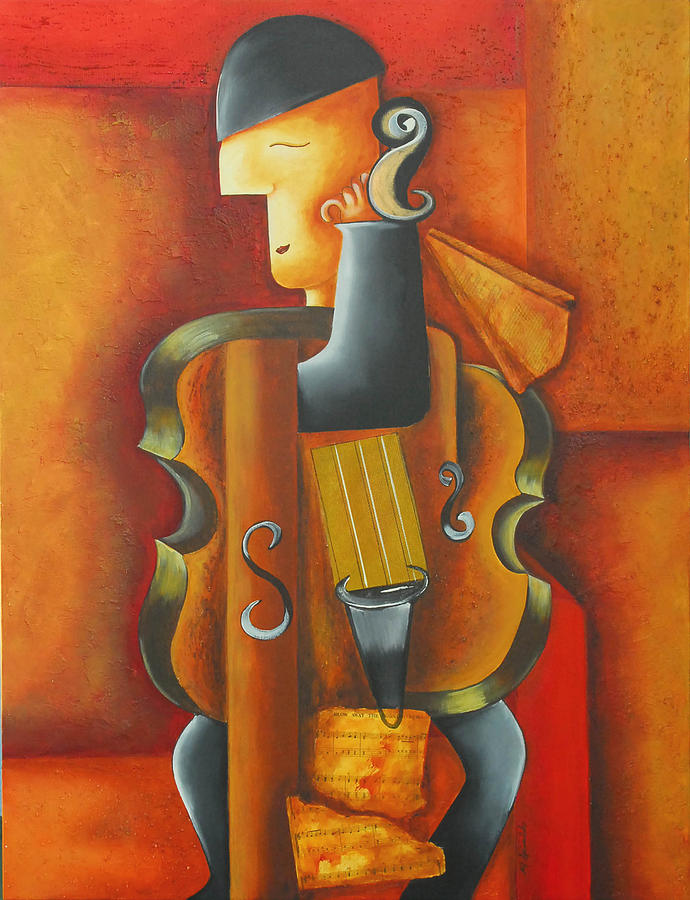 Abstract Expressionism Painting - Violin Time by Marta Giraldo