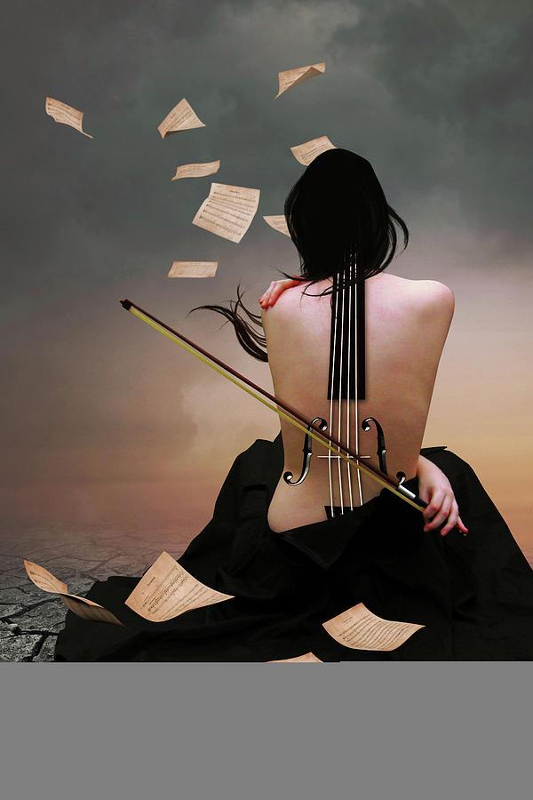 Violin Woman Digital Art