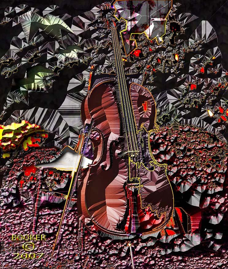 Jazz Mixed Media - Violinapoli by Booker Williams
