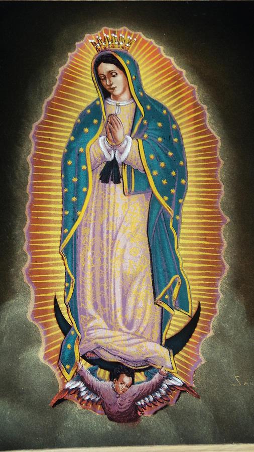 Virgen Guadalupe  Painting - Virgen by Kasper Castillo