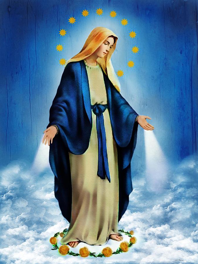 Virgin Mary Photograph - Virgen Milagrosa by Bibi Romer