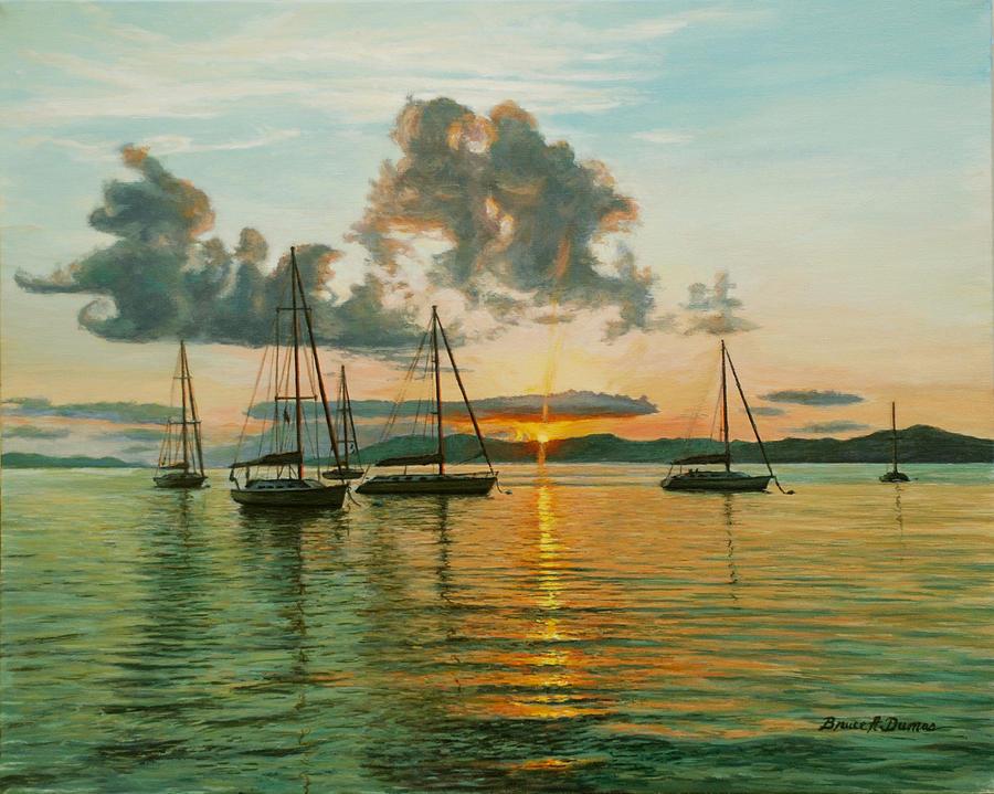 Boat Painting - Virgin Islands by Bruce Dumas