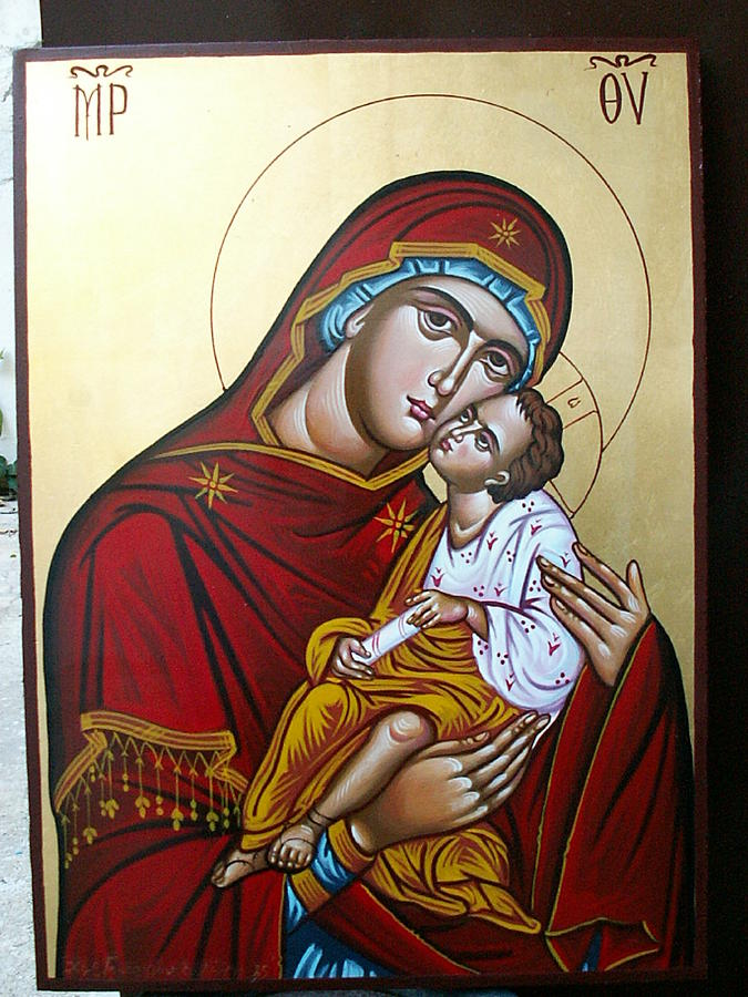 Virgin Mary Painting by George Lenis