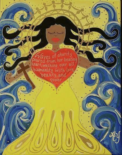 Virgin Of Caridad Painting by Angela Yarber