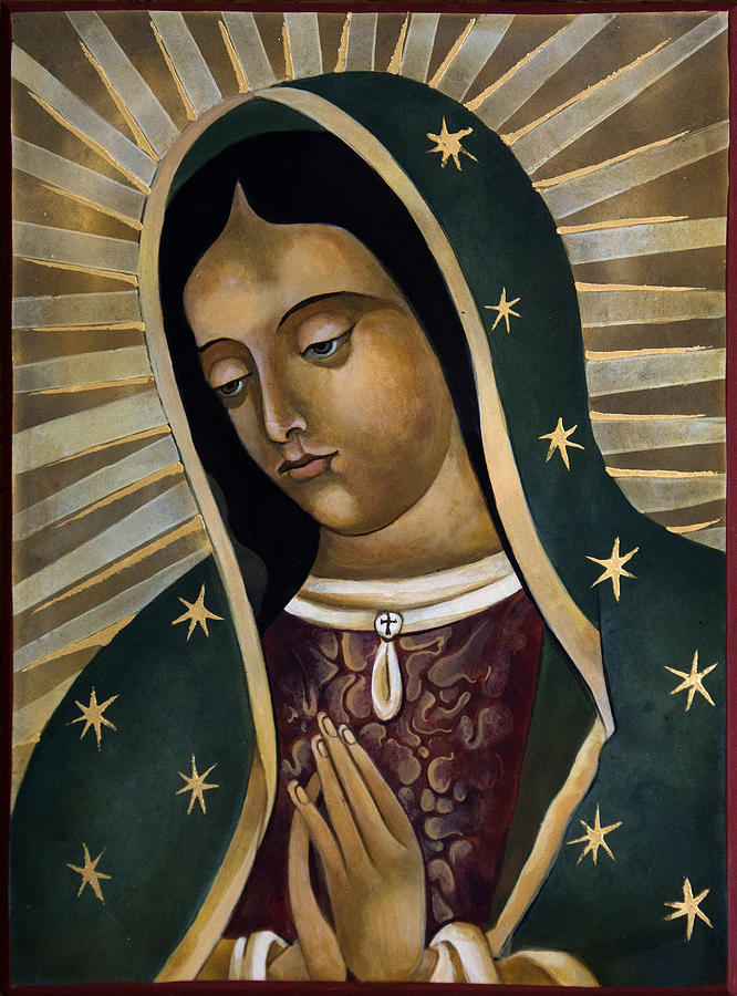 Our Lady Of Guadalupe Painting - Virgin of Guadelupe by Mary jane Miller
