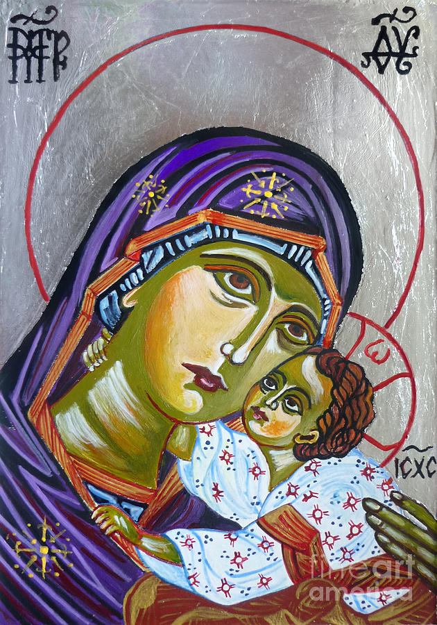 Virgin Of Tenderness Eleusa Painting