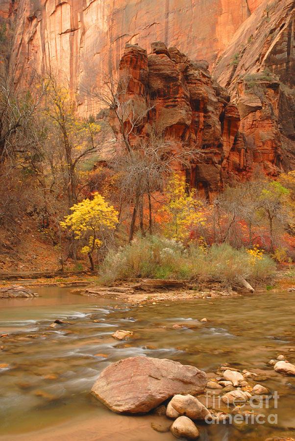 Utah Photograph - Virgin River At The Narrows by Dennis Hammer