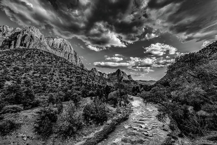 Landscape Photograph - Virgin River Bw1 by Don Risi
