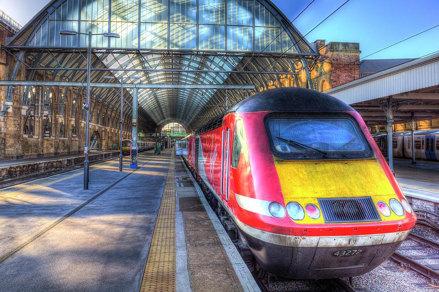 Virgin Photograph - Virgin Train Kings Cross Station by David Pyatt