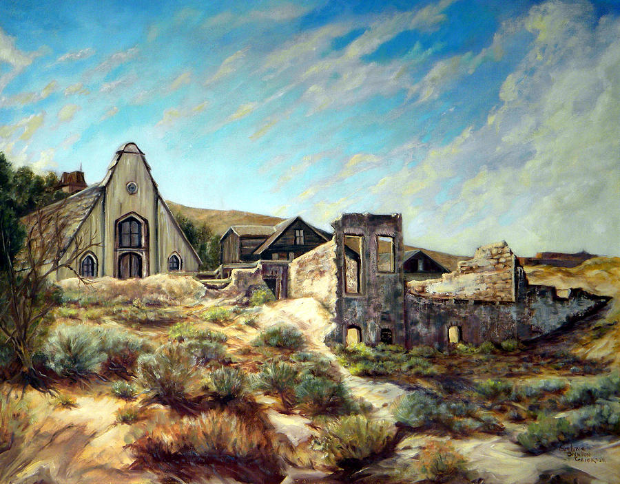 West Painting - Virginia City Nevada II by Evelyne Boynton Grierson