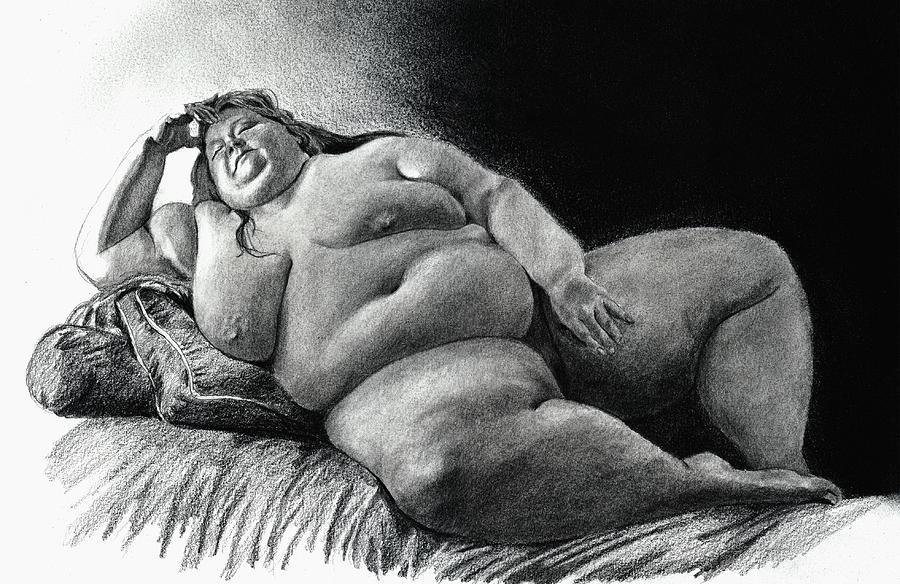 Bbw wife lounging