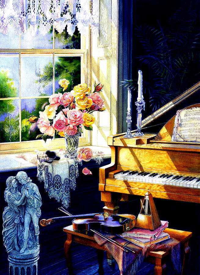Piano Painting - Virginia Waltz by Hanne Lore Koehler