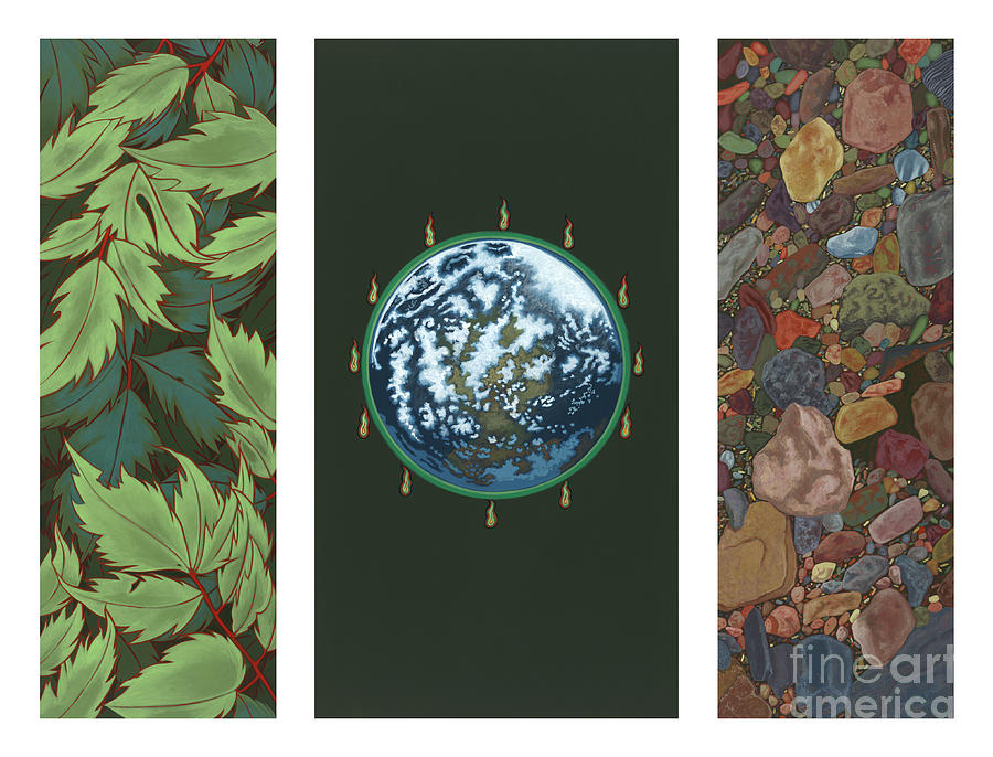 Earth Painting - Viriditas Triptych by William Hart McNichols