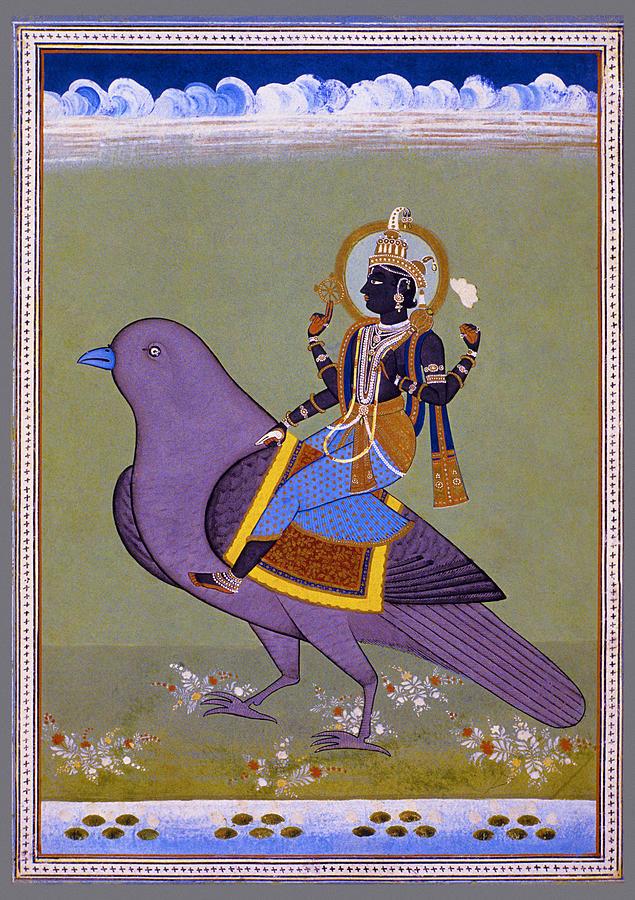 Vishnu Photograph - Vishnu On A Bird by Shreekant Jadhav