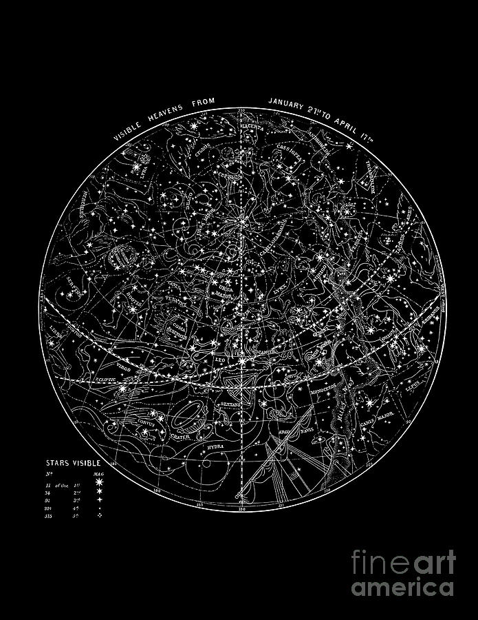 astronomy star charts - 695×900