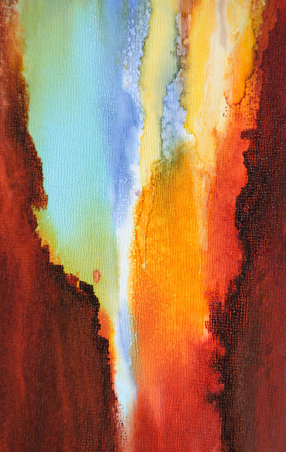 Abstract Painting - Visible Love - B - by Sandy Sandy