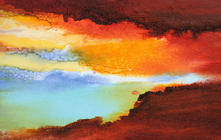 Abstract Painting - Visible Love - C - by Sandy Sandy