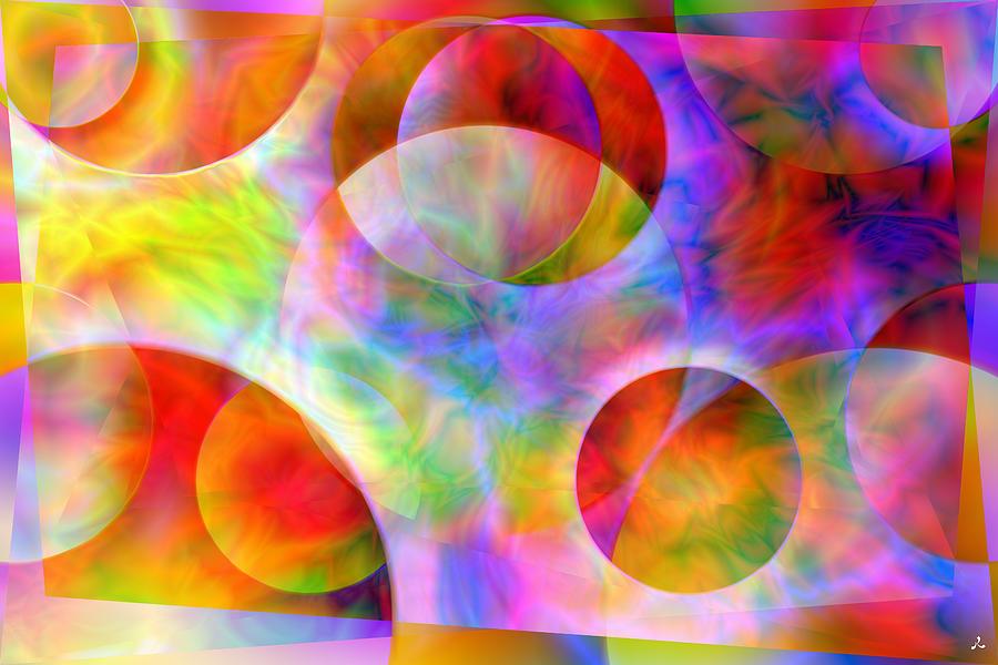 Colors Digital Art - Vision 29 by Jacques Raffin