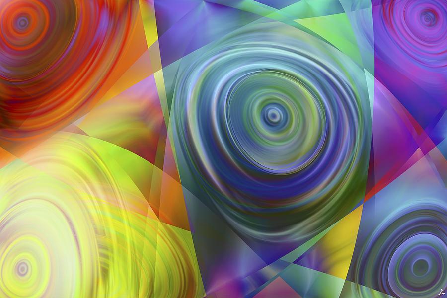 Colors Digital Art - Vision 39 by Jacques Raffin