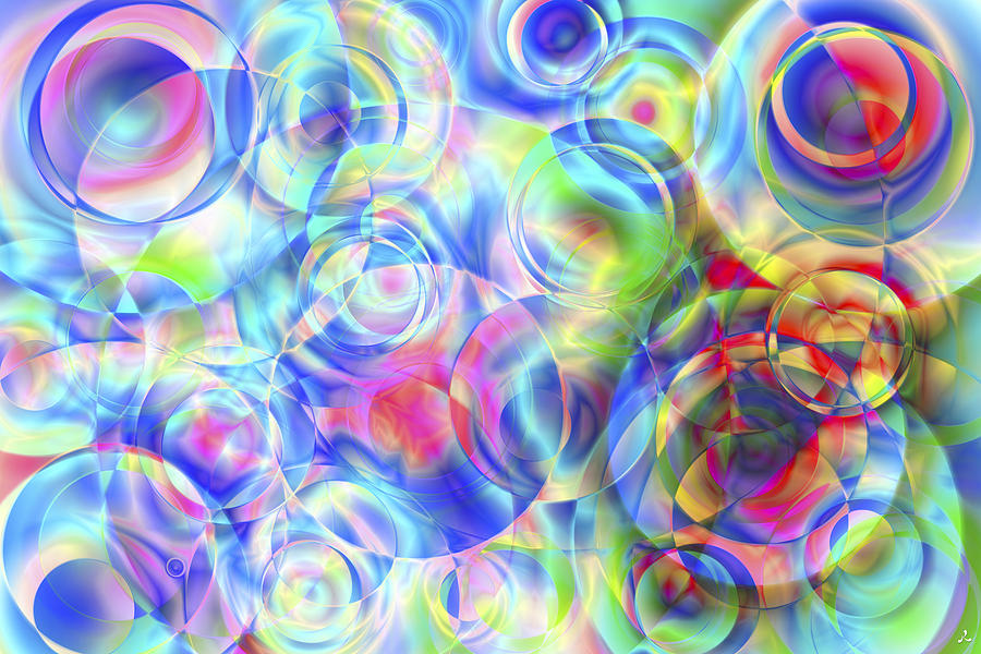 Colors Digital Art - Vision 4 by Jacques Raffin