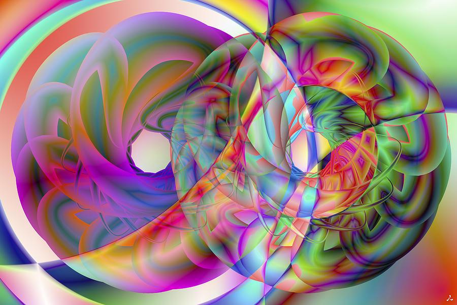 Crazy Digital Art - Vision 41 by Jacques Raffin