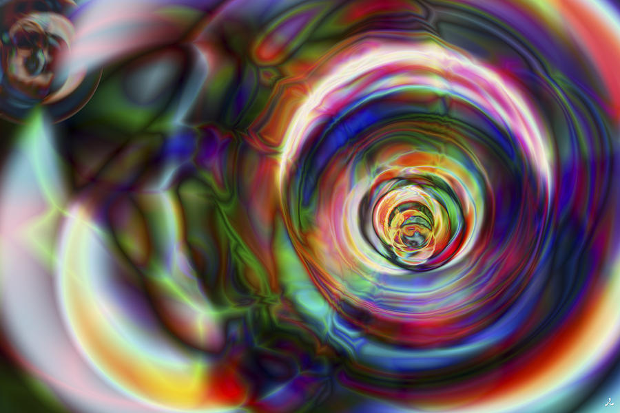 Crazy Digital Art - Vision 8 by Jacques Raffin