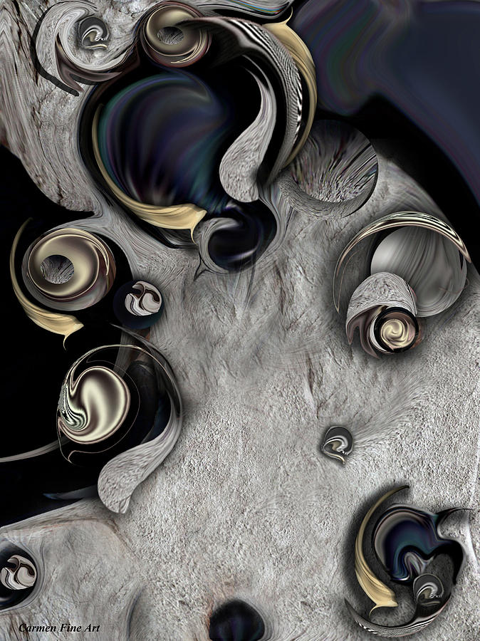 Silver Digital Art - Vision Of Aesthetic Thing by Carmen Fine Art