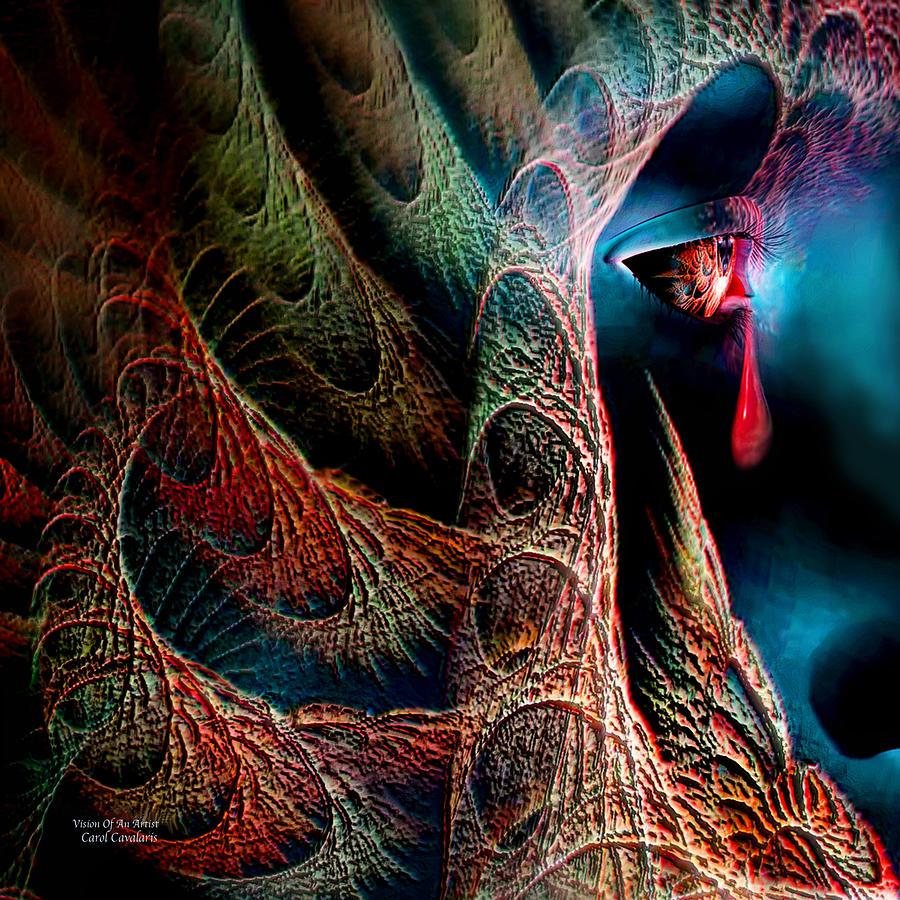 Digital Painting Mixed Media - Vision Of An Artist by Carol Cavalaris