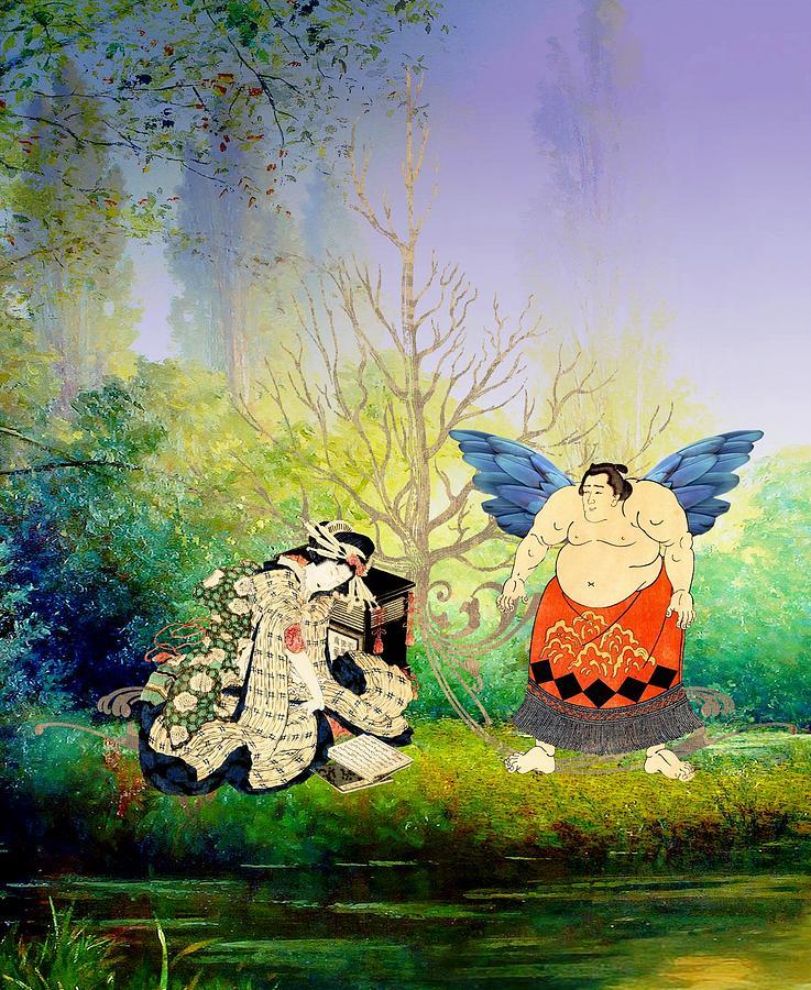 Angel Digital Art - Vision of Angel by Laura Botsford