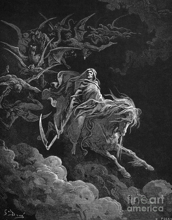 Allegory Photograph - Vision Of Death by Granger