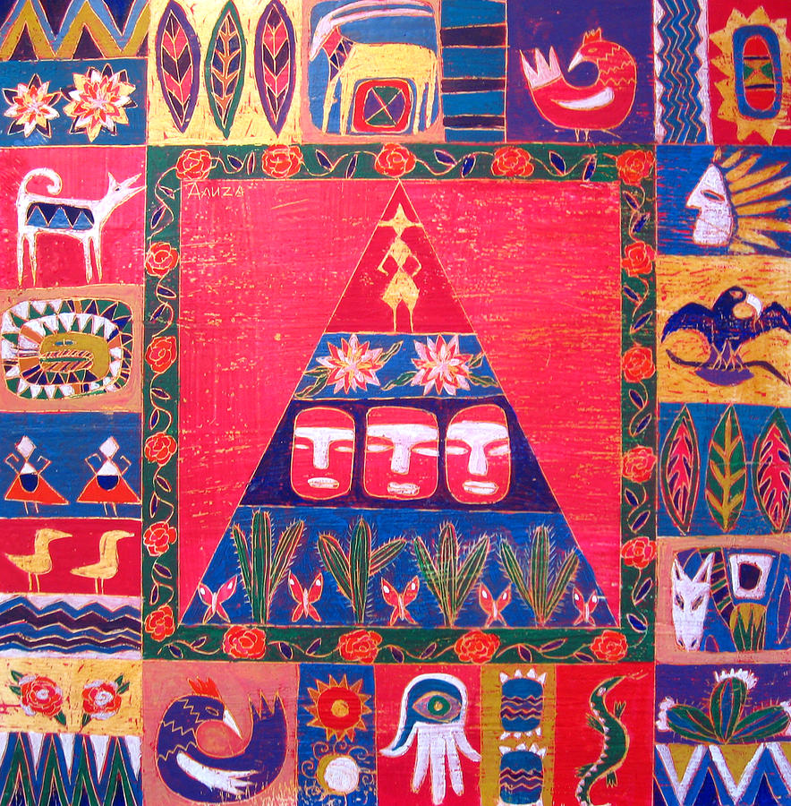 World Cultures Painting - Vision Of Mexico by Aliza Souleyeva-Alexander