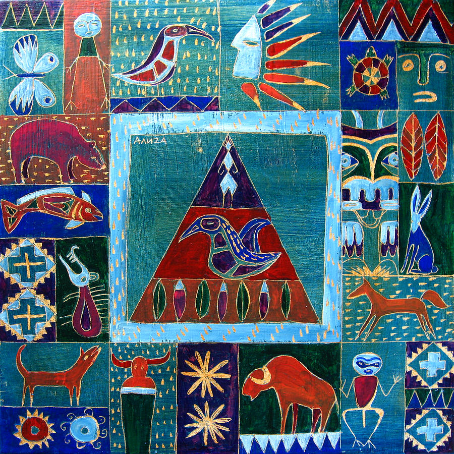 Native Painting - Vision Of Native North America by Aliza Souleyeva-Alexander