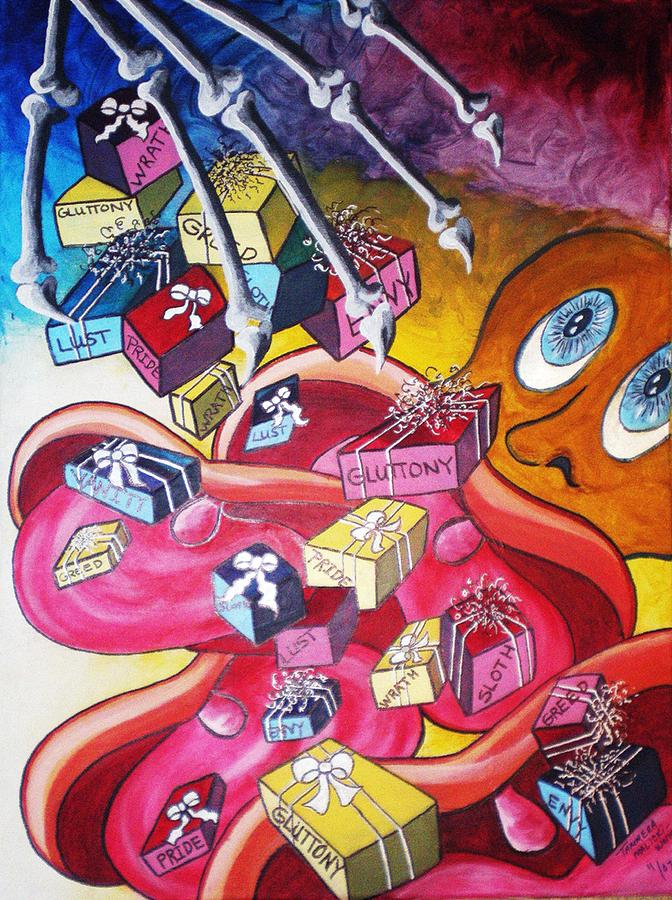 Abstract Painting - Vision Of Vices by Tammera Malicki-Wong