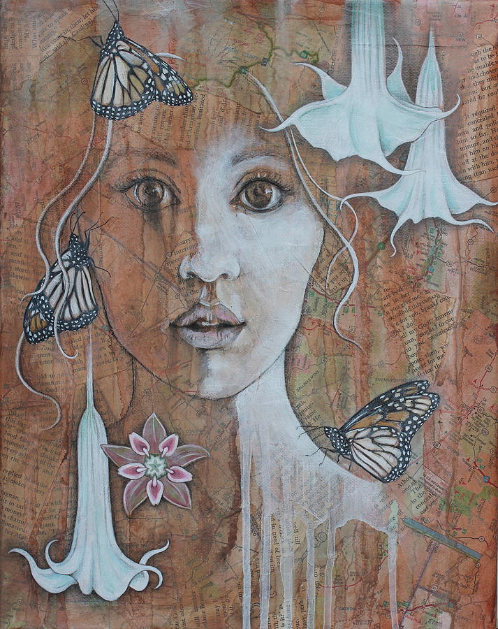 Portrait Mixed Media - Vision by Sheri Howe