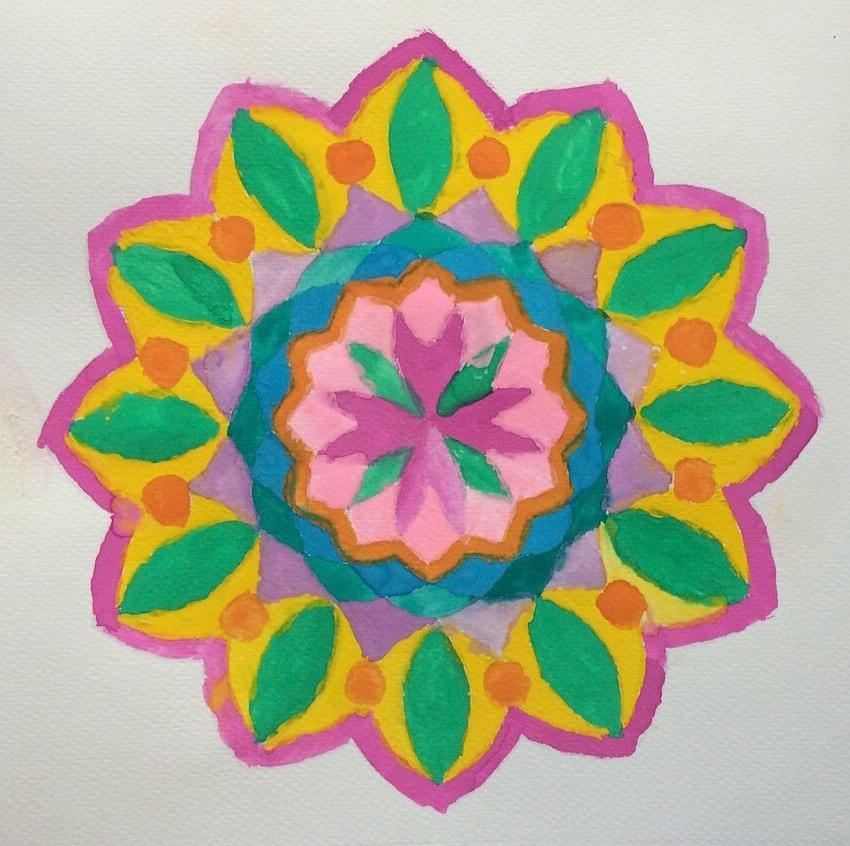 Flower Painting - Visions  by Fernanda Machuca