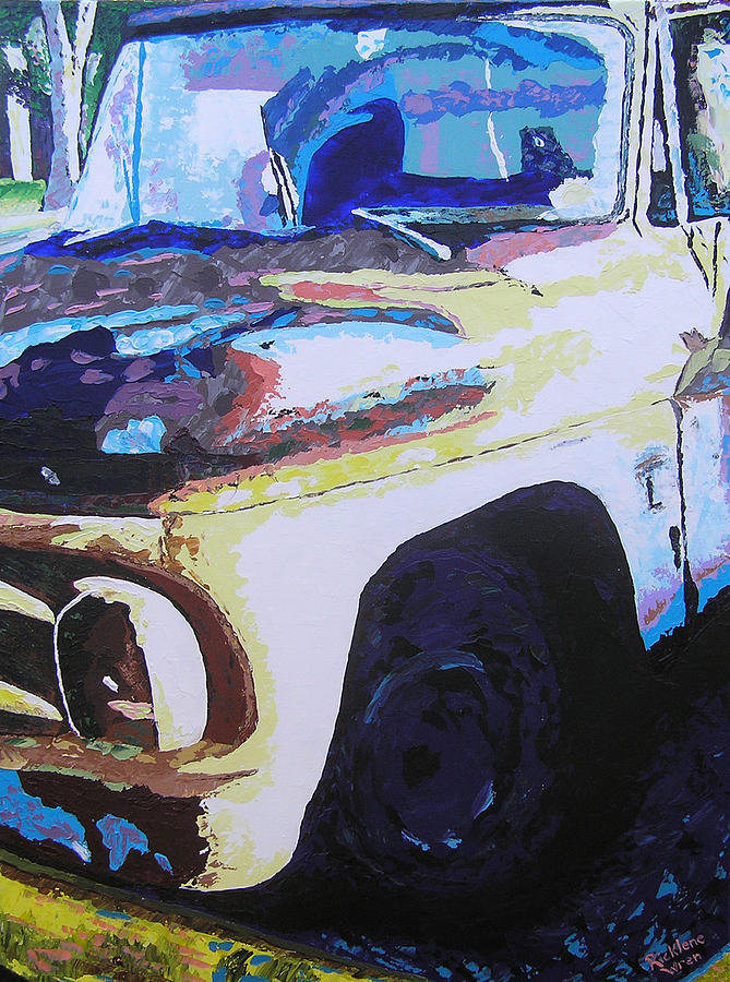 Truck Painting - Visions Of Alpine Revisited by Ricklene Wren