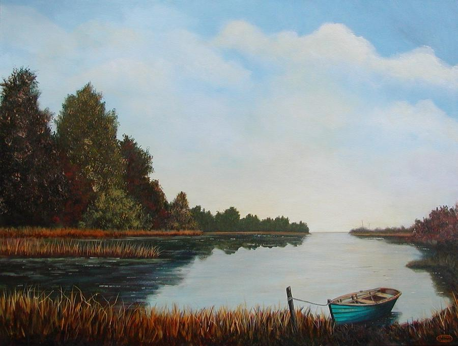 Seascape Painting - Visions Of Bras D Or by Sharon Steinhaus