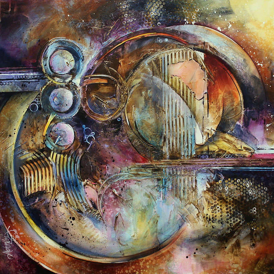 Abstract Painting - visions Of Eight by Michael Lang