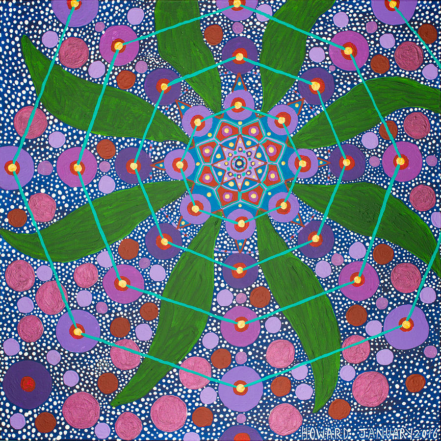 Geometry Painting - Visions Of The Amethyst Beyond  by Howard Charing