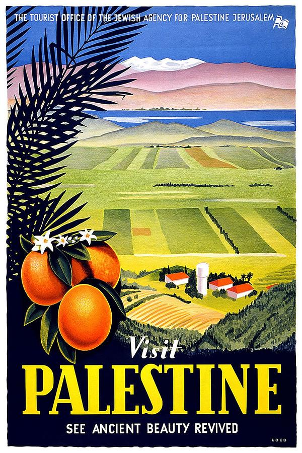 Visit Palestine, Jerusalem - See Ancient Beauty Revived - Retro Travel Poster - Vintage Poster Mixed Media