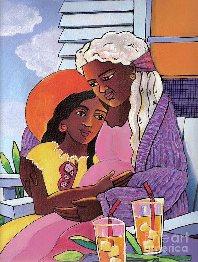 Mary Painting - Visitation - Deck - Mmvtd by Br Mickey McGrath OSFS