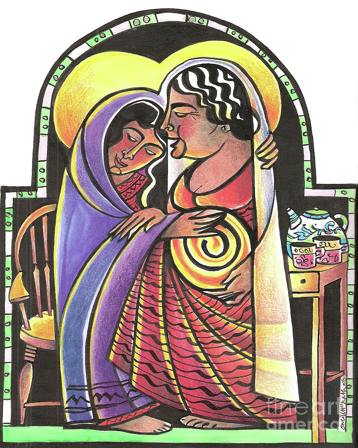 Mary Painting - Visitation - Kitchen - Mmvsk by Br Mickey McGrath OSFS