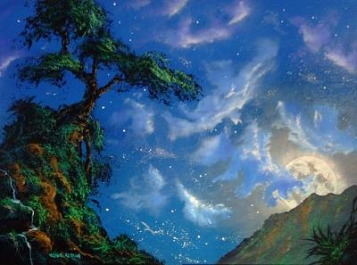 Moon Painting - Visitation Of The Moon by Victor Kirton