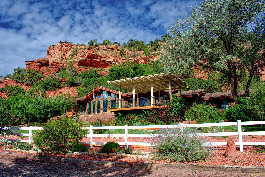Best Friends Photograph - Visitor Center Best Friends Animal Sanctuary Angel Canyon Knob Utah 02 by Thomas Woolworth